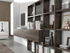 Comedores | Dormitorios de matrimonio, habitaciones juveniles y comedores modernos Decor, Studio Room, Shelves, Interior, Shelving, Home Decor, House Interior, Wall Unit, Apartment Decor