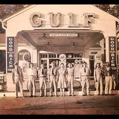 8 x 10 of my Great Grandfather, Clem Hardy's Gulf gas station in GA (Taken with instagram)