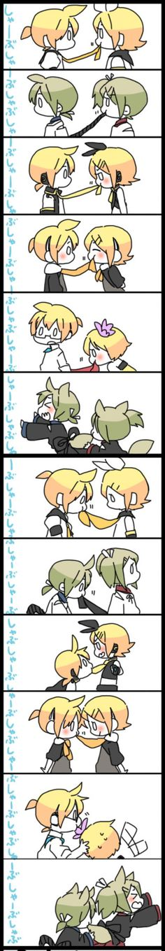 Biting each other are we Rin and Len?< I don't know?