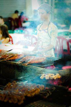 Ben Thanh Market Street Kitchen, Saigon, Vietnam | by Matthew Wilkinson, via Flickr