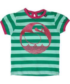 Danefae charming t-shirt with glitter swan. danefae.en.emilea.be