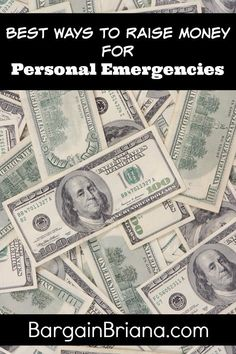 Best Ways to Raise Money for Personal Emergencies  :: When you try to raise money for personal emergencies, it can often be highly stressful. Here are some dependable and easy ways to get cash.