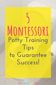 5 Montessori potty training tips to guarantee success! Learn how to potty train your toddler the Montessori way! Montessori Education, Montessori Toddler, Toddler Preschool, Toddler Activities, Montessori Materials, Gentle Parenting, Parenting Advice, Kids And Parenting, Toddler Potty Training