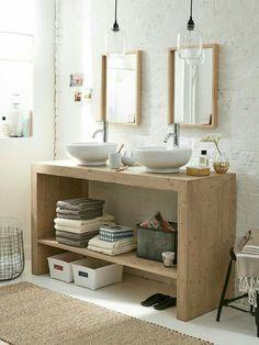 15 Most Effective Small Bathroom Design Ideas Laundry In Bathroom, Interior, Home, Vanity, Small Bathroom, Home Deco, Bathroom Design, Bathroom Decor, Beautiful Bathrooms