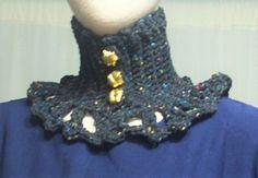 Choker dress Collar Gothic Lolita Vamp black speckled crocheted Geechlark c143 #Geechlark #CrochetedChoker