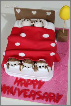 Funny wedding anniversary cake