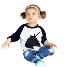 DaySeventh Fashion 1Set Kids Toddler Girls Handsome Blouse + Jeans (7T, White 2). Gender:Girls. Style:Casual&Fashion. Pattern Type:Printing. Sleeve Length:Long Sleeve. DaySeventh Independent Brand (OVERMAL) 2016 New Release.