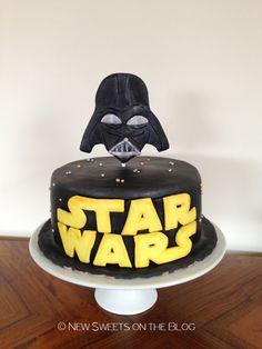 Star Wars Darth Vader birthday cake by Ada Plainaki & New Sweets on the Blog (educational website)educational website