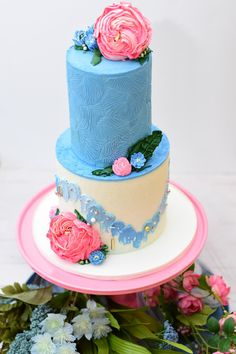 """Find your unique """"something blue"""" in this article! #weddings #wedding #tradition #somethingblue #bouquet #weddingcake 2 Tier Cake, Tiered Cakes, Wedding Cake Images, Wedding Cakes, Cake Websites, Beautiful Cakes, Amazing Cakes, Pains Sans Gluten, Food Fantasy"""