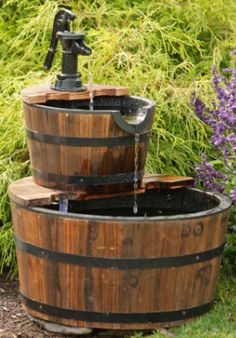Your Heart's Delight by Audrey's - Old Pump Fountain - Two-Tiered Bucket