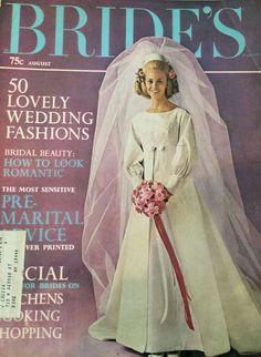 Vintage Glamour Magazine - July, 1975 Back Issue for sale online Vintage Wedding Photos, Vintage Bridal, Vintage Glamour, Vintage Weddings, Wedding Bride, Wedding Gowns, Wedding Scene, Wedding Dress Sleeves, Bridal Beauty