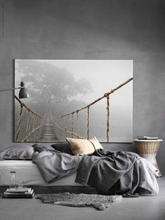 Home Interior Living Room Gray is the New Black. Get Inspired By These 100 Gray Bedroom Designs! Interior Living Room Gray is the New Black. Get Inspired By These 100 Gray Bedroom Designs! Gray Bedroom, Master Bedroom Design, Home Bedroom, Modern Bedroom, Bedroom Decor, Bedroom Ideas, Minimalist Bedroom, Minimalist Design, Trendy Bedroom