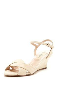 Valentino Crisscross Wedge Sandal on HauteLook