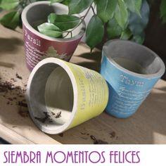 Siembra momentos felices. Decoración. http://elhogarideal.com/es/