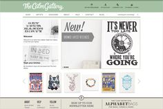 Website Home Page Design // The Calm Gallery by Claire Coullon