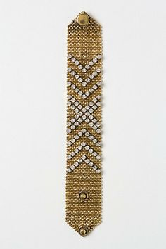 Chevron Sparkle Bracelet #anthropologie  Love this cuff!