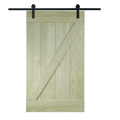 Unfinished Pine Z-design Wood Barn Door Kit (36x80) | Overstock.com Shopping - The Best Deals on Doors