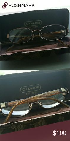 Coach glasses with case. Will need to replace lenses. Worn 1x. Never again. Womens. So pretty Coach Accessories Glasses