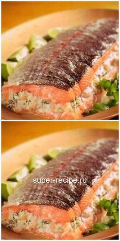 Горбуша, фаршированная сыром и грибами - фиш. Basa Fish Recipes, Chicken Nugget Recipes, Quick Chicken Recipes, Hot Dog Recipes, Salmon Recipes, Meat Recipes, Seafood Recipes, Cooking Recipes, Healthy Recipes