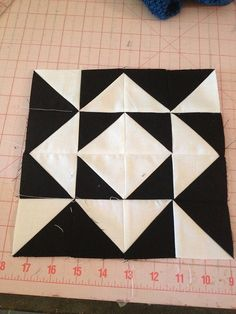 HST Quilt-a-long block 56 by knitnlit, via Flickr