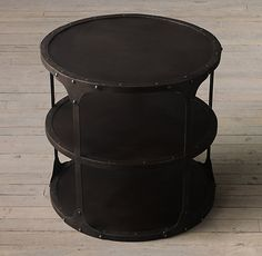 20Th C. Industrial Riveted Side Table
