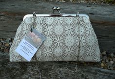 Evening Bag Clutch Purse Nottingham Lace Purse by Bagsofelegance