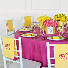 Reception Table Decorations Vibrant Tables Southernliving Photo Erica George Dines Simple