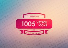1005 Vector Icons Pack by Dreamstale on Creative Market