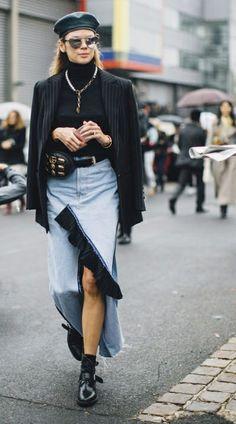 ☆ Fashion Week, Look Fashion, Winter Fashion, Girl Fashion, Fashion Outfits, Womens Fashion, Fashion Trends, Paris Fashion, Street Fashion