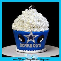 This is one of my favorites on myshopify.com: Dallas Cowboys Giant Cupcake Cake...Blue Sheep Bake Shop is a boutique bakery specializing in cupcakes & custom cakes!