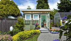 Forget The Man Caves, It's All About The She Shed This Spring. For years we've heard about the Man Cave as a trend in home design, but what is the female equivalent? It's the She Shed!  She Sheds are small dwellings or shelters in a backyard, that are about the size of a garden shed (or a bit bigger), that can be used as a quiet getaway for women to escape to.