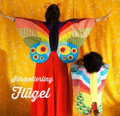 Kostüm Verkleidung Karnevall und Fasching Schmetterlinge Schmetterlingsflügel Insekt