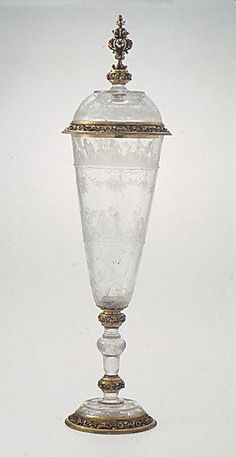 Standing cup with cover Mounts after a design by Reinhold Vasters (German, Erkelenz 1827–1909 Aachen) Date: second half 19th century Culture: probably French Medium: Rock crystal, gold, enamel