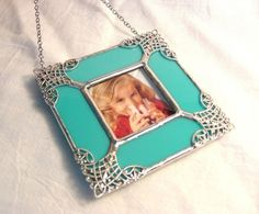 Ornate Turquoise Picture Frame by MoreThanColors on Etsy,    I have two of these in blue. JT