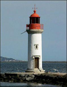 Lighthouse at Marseillan. Places Around The World, Travel Around The World, Around The Worlds, Lighthouse Photos, Beacon Of Light, Provence, Disney World Vacation, Beautiful Buildings, Windmill