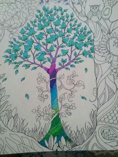 Tree With Cold Colours Johanna Basford