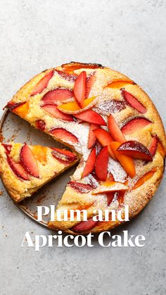 Plum and Apricot Cake — Amanda Frederickson Baking Recipes, Cake Recipes, Dessert Recipes, Fruit Recipes, Delicious Desserts, Yummy Food, Tasty, Apricot Cake, Plum Apricot