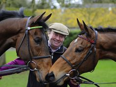 My Tent Or Yours and Bobs Worth with the champion trainer Nicky Henderson.