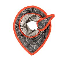 Pom Amsterdam Grey & Orange Ikat Drawing Scarf: This Ikat Drawing by Pom Amsterdam comes in striking grey & orange. This gorgeously printed scarf is just the thing for cool weather... We love the orange trim, perfect for adding life to a neutral outfit.