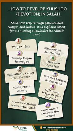 How to Develop Khushoo (Devotion) In Salah #namaz #Islam