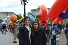 BCA students (Allison Staumont and myself) at Fête de la Bande Dessinée (The Brussels Comic Strip Festival) outside of the Royal Palace in Brussels.