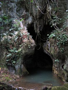 Actun Tunichil Muknal (Cave of the Stone Sepulchre) entrance to the Mayan underworld