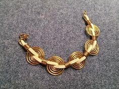 how to Wire coin bracelet - handcrafted copper jewelry 239 - YouTube