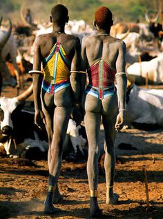 Drinka corset. Worn by Dinka tribesmen & women of Southern Sudan