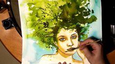 Jak malować akwarelą, wiosenne portrety