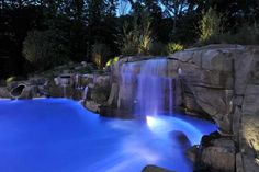 12 Warewoods Road, Saddle River NJ - Trulia A slide, grotto, and waterfall? This pool has our heads swimming! Swimming Pool Slides, Amazing Swimming Pools, Swimming Pool Landscaping, Natural Swimming Pools, Cool Pools, Landscaping Ideas, Outdoor Entertaining, Outdoor Fun, Paradise Pools