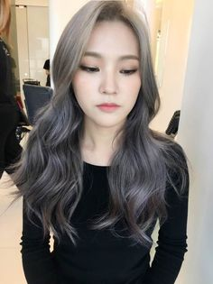 korea korean kpop idol actress 2017 hair color trend for winter fall lavender ash brown hairstyles for girls kpopstuff