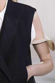 Folded metal arm cuff - modern statement jewellery; runway jewelry // Acne
