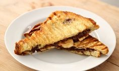 Nutella is one of those things that I can just eat on its own, it's so delicious -- but paired with bananas and pressed into a warm sandwich between two slices of buttered brioche -- that's what I call a next-level no-bake dessert.