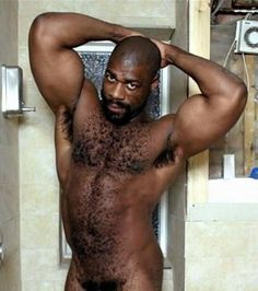 Mature men in shower
